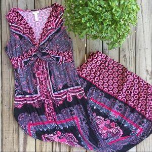 Soma pink patterned maxi size medium